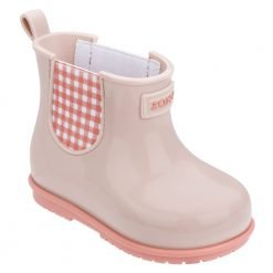 PLAID BOOT BABY LIGHT pink
