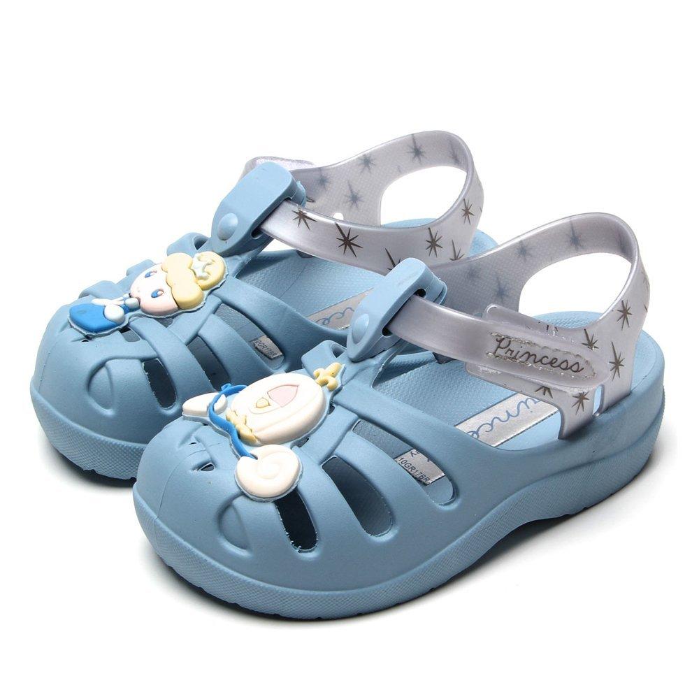 SANDALIA SOFT BABY blue/silver