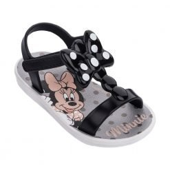 MINNIE BOW FEVER SAND BABY white/black