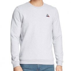 ESS CREW SWEAT N°2 M gris chiné clair